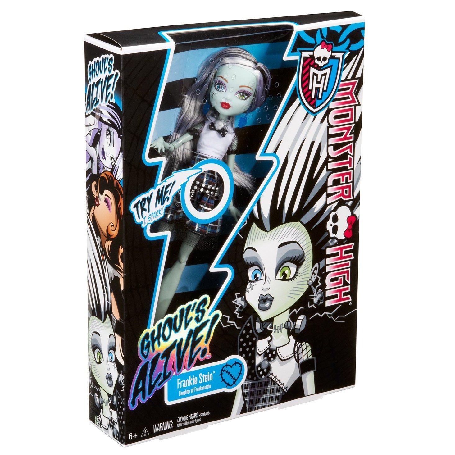 Monster High Szörnyen élethű babák Frankie Stein