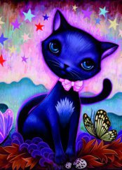 Heye puzzle 1000 db - Black Kitty